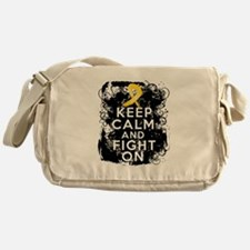 Childhood Cancer Keep Calm Fight On Messenger Bag