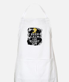 Childhood Cancer Keep Calm Fight On Apron