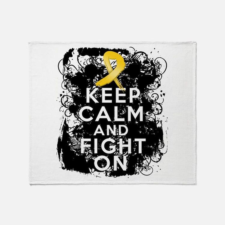 Childhood Cancer Keep Calm Fight On Stadium Blank