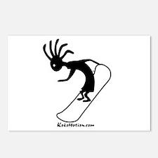 Kokopelli Snowboarder Postcards (Package of 8)
