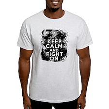 Brain Tumor Keep Calm Fight On T-Shirt