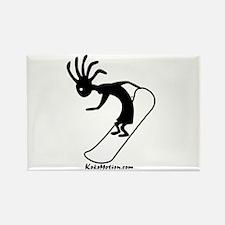 Kokopelli Snowboarder Rectangle Magnet