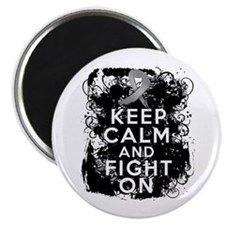 Brain Tumor Keep Calm Fight On Magnet