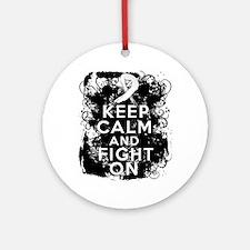 Bone Cancer Keep Calm Fight On Ornament (Round)