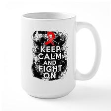 Blood Cancer Keep Calm Fight On Mug