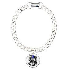 Anal Cancer Keep Calm Fight On Bracelet