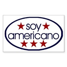 Soy Americano Rectangle Decal