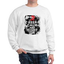 AIDS HIV Keep Calm Fight On Sweatshirt