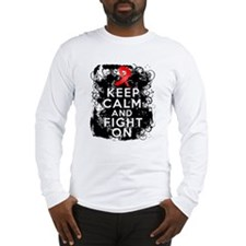 AIDS HIV Keep Calm Fight On Long Sleeve T-Shirt