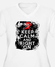 AIDS HIV Keep Calm Fight On T-Shirt