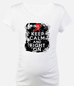 AIDS HIV Keep Calm Fight On Shirt
