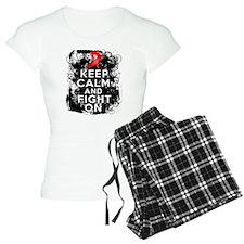 AIDS HIV Keep Calm Fight On Pajamas