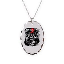 AIDS HIV Keep Calm Fight On Necklace