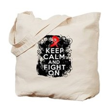 AIDS HIV Keep Calm Fight On Tote Bag