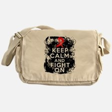 AIDS HIV Keep Calm Fight On Messenger Bag