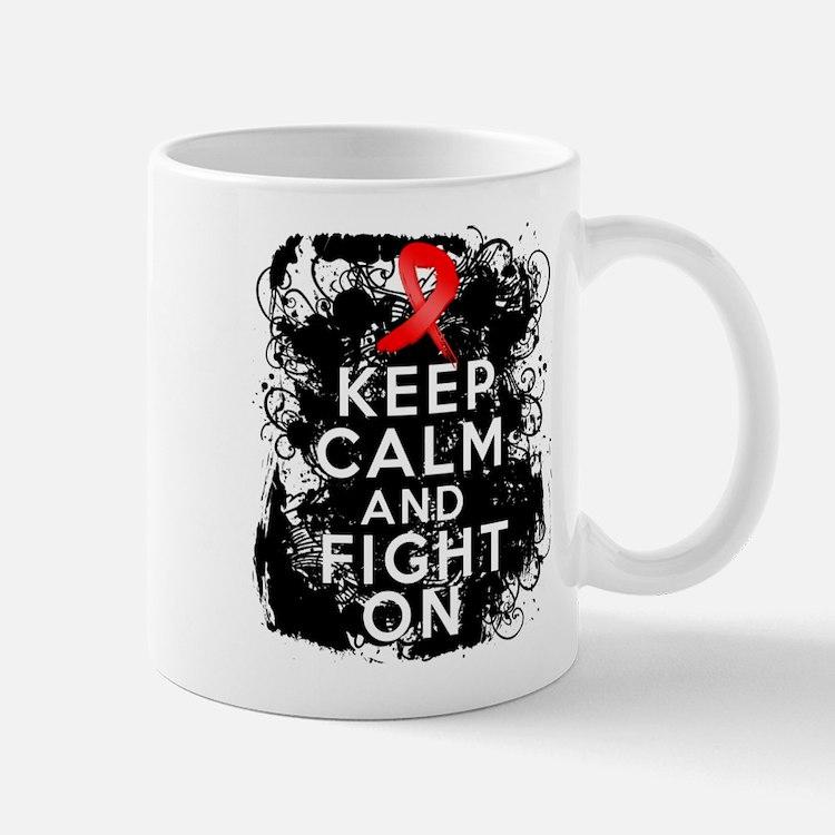 AIDS HIV Keep Calm Fight On Mug