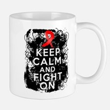 AIDS HIV Keep Calm Fight On Small Small Mug