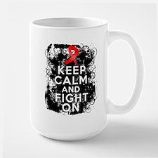 AIDS HIV Keep Calm Fight On Coffee Mug