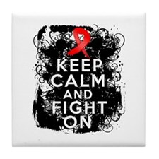 AIDS HIV Keep Calm Fight On Tile Coaster