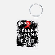 AIDS HIV Keep Calm Fight On Keychains