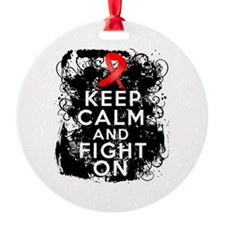 AIDS HIV Keep Calm Fight On Ornament