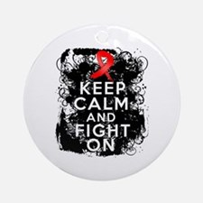 AIDS HIV Keep Calm Fight On Ornament (Round)