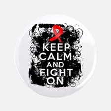 """AIDS HIV Keep Calm Fight On 3.5"""" Button"""