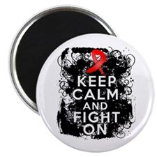 AIDS HIV Keep Calm Fight On Magnet