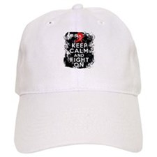 AIDS HIV Keep Calm Fight On Hat