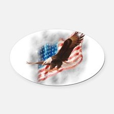Faded Glory Oval Car Magnet
