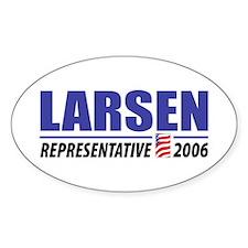 Larsen 2006 Oval Decal