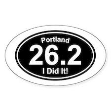 Portland Marathon Rectangle Decal