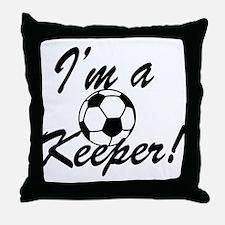 Im a Keeper Blk Throw Pillow