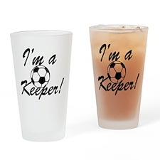 Im a Keeper Blk Drinking Glass