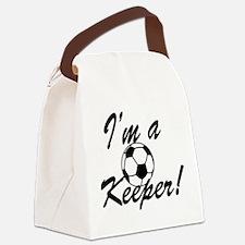Im a Keeper Blk Canvas Lunch Bag