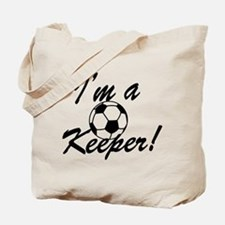 Im a Keeper Blk Tote Bag