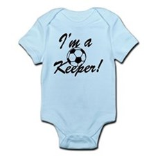 Im a Keeper Blk Infant Bodysuit