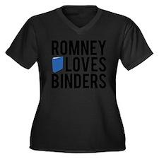 Romney-Loves-Binders.png Women's Plus Size V-Neck