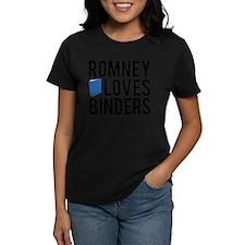 Romney-Loves-Binders.png Tee