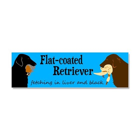 Fetching Flat-coated Retriever Car Magnet