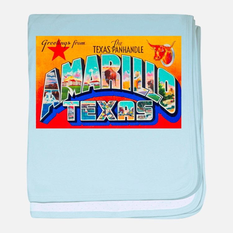 Amarillo Texas Greetings baby blanket