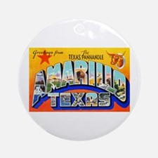 Amarillo Texas Greetings Ornament (Round)