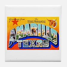 Amarillo Texas Greetings Tile Coaster