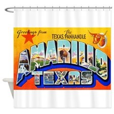 Amarillo Texas Greetings Shower Curtain