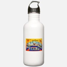 Amarillo Texas Greetings Water Bottle