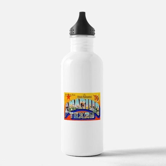 Amarillo Texas Greetings Water Bottle