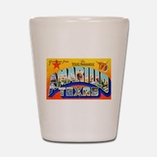 Amarillo Texas Greetings Shot Glass