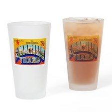 Amarillo Texas Greetings Drinking Glass