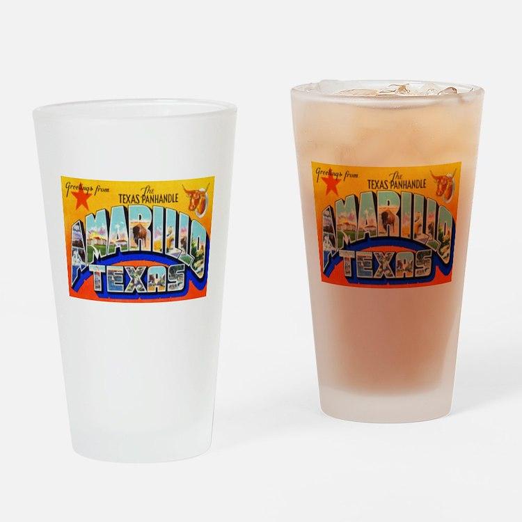 Amarillo Texas Greetings Drinking Glass