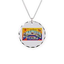 Amarillo Texas Greetings Necklace